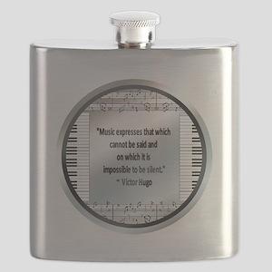 Hugomusicborder Flask