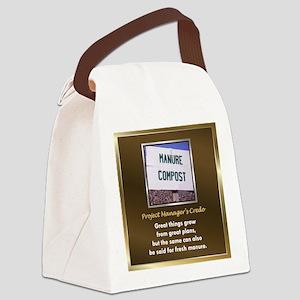ManurePileProjMgrTile Canvas Lunch Bag
