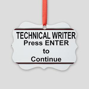 TechWriterPlate Picture Ornament