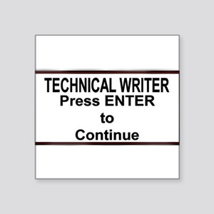 "TechWriterPlate Square Sticker 3"" x 3"""