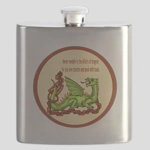 dragonRoundShirt Flask