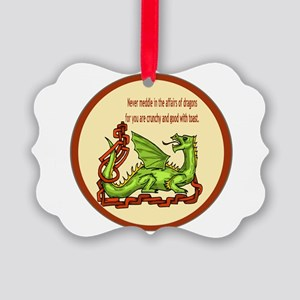 dragonRoundShirt Picture Ornament