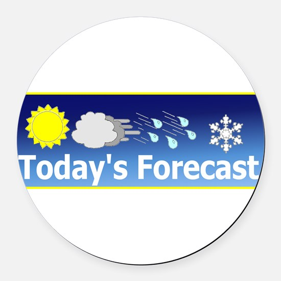 Forecast1.png Round Car Magnet