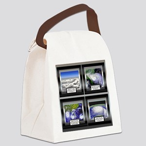 HurricaneTile Canvas Lunch Bag