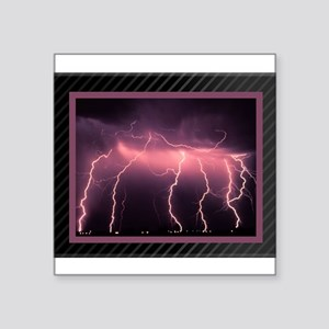 "lightning displayCurtain Square Sticker 3"" x 3"