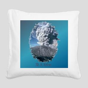 2-MtStHelenTile Square Canvas Pillow