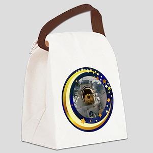 Astronautinspacesquare Canvas Lunch Bag