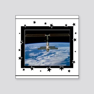 "internatl spacestation3a Square Sticker 3"" x 3"