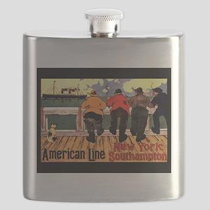 AmericanLineShipsNoteCard Flask