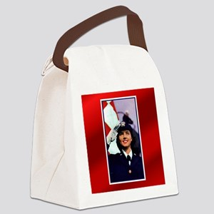 NavyEnlistVintageCardl Canvas Lunch Bag