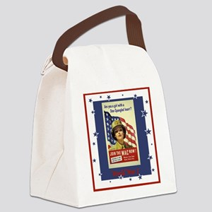 WW1WACPostersmaller Canvas Lunch Bag