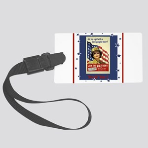 WW1WACPostersmaller Large Luggage Tag