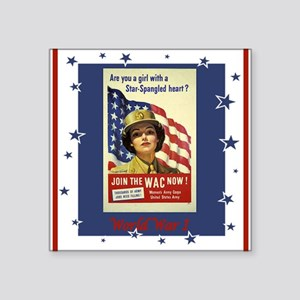 "WW1WACPostersmaller Square Sticker 3"" x 3"""