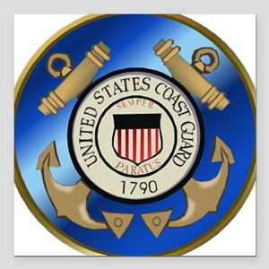 "U.S. Coast Guard Cutter Square Car Magnet 3"" x 3"""