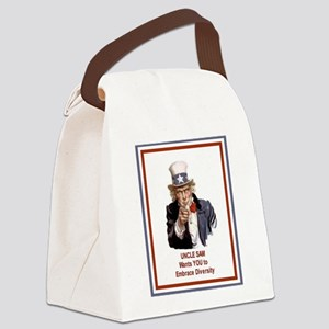 UncleSamOPenMind Canvas Lunch Bag