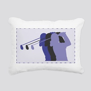 woman golfer 7 Rectangular Canvas Pillow