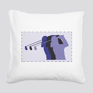 woman golfer 7 Square Canvas Pillow