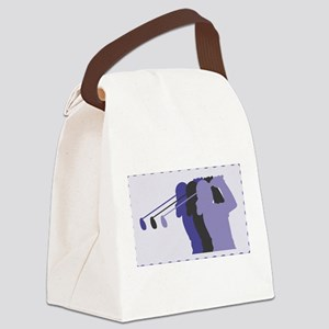 woman golfer 7 Canvas Lunch Bag