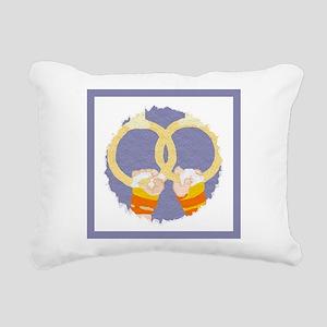 Men's Gymnastics Rectangular Canvas Pillow
