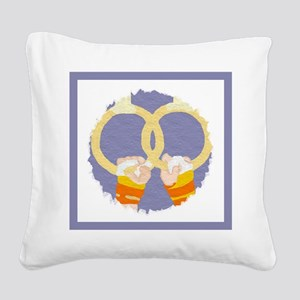 Men's Gymnastics Square Canvas Pillow