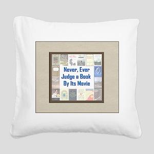 bookvsmovie Square Canvas Pillow