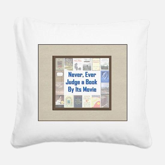 bookvsmovie.jpg Square Canvas Pillow