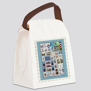 stamps Canvas Lunch Bag