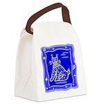 Tricatblue.png Canvas Lunch Bag