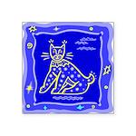 Tricatblue.png Square Sticker 3