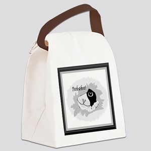 kittty_curious2 Canvas Lunch Bag