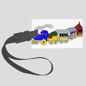 toy_train_BW Large Luggage Tag