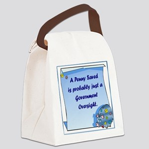 RoundPenny Saved Canvas Lunch Bag