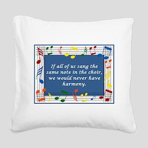 2-harmony Square Canvas Pillow