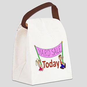 GarageSaleSign Canvas Lunch Bag
