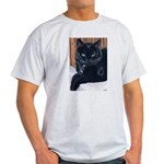 MeMe, the black cat Ash Grey T-Shirt