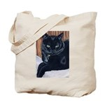 MeMe, the black cat Tote Bag