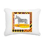zebra.png Rectangular Canvas Pillow