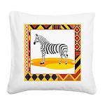 zebra.png Square Canvas Pillow
