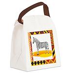 zebra.png Canvas Lunch Bag
