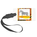 zebra.png Large Luggage Tag