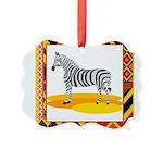 zebra.png Picture Ornament