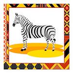 zebra.png Square Car Magnet 3