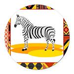 zebra.png Round Car Magnet