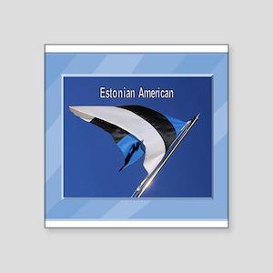 "Estonianflag Square Sticker 3"" x 3"""