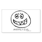 happily Sticker (Rectangle 50 pk)