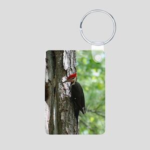 Pileated Woodpecker Aluminum Photo Keychain