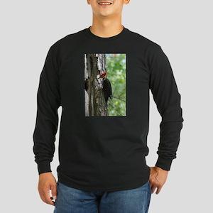 Pileated Woodpecker Long Sleeve Dark T-Shirt