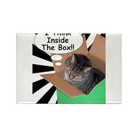 Hippy Kitty I Think Inside The Box!! Rectangle Mag