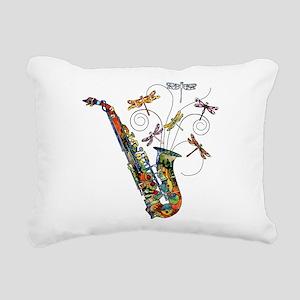 wild Saxophone Rectangular Canvas Pillow