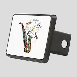 wild Saxophone Rectangular Hitch Cover